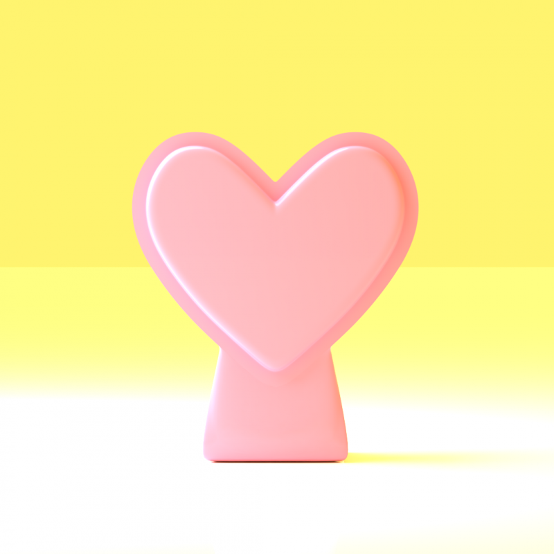 3d Models Compact Heart Shaped Vase