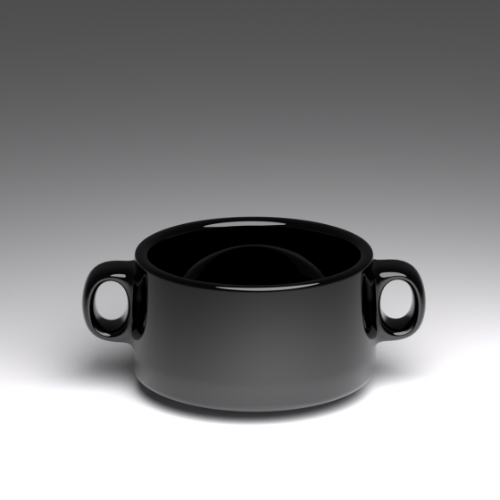 Black Soup Bowl