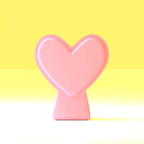 Compact Heart-Shaped Vase