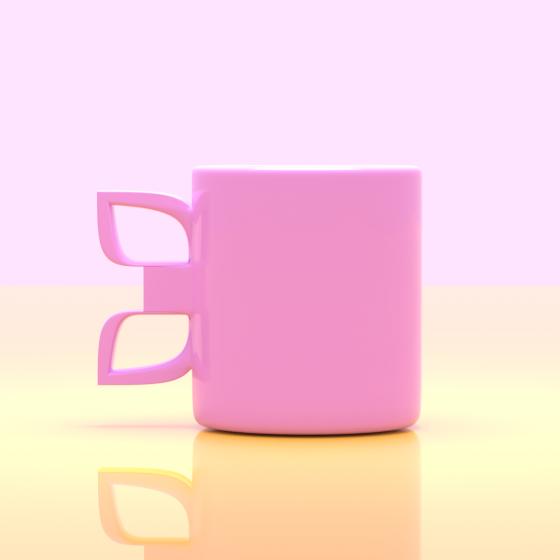 Butterfly Handle Mug