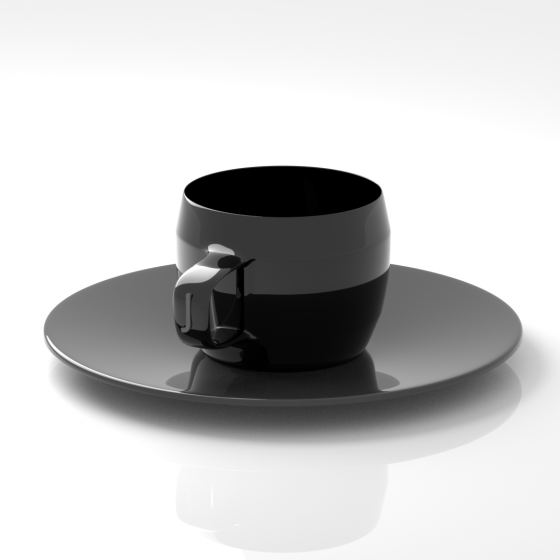 All in One Cup and Saucer